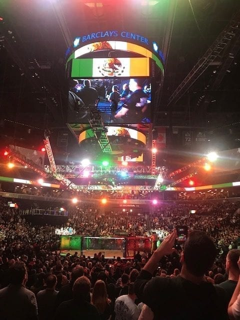 The Experience of Watching MMA Front and Center